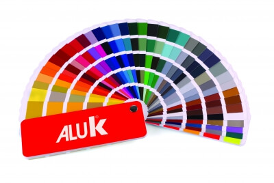 Colour range of aluminium windows, doors and frames