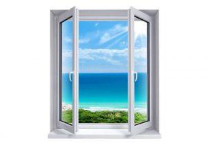 Aluminium Casement windows opening outwards