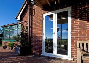 external aluminium entrance doors displayed by doorwins