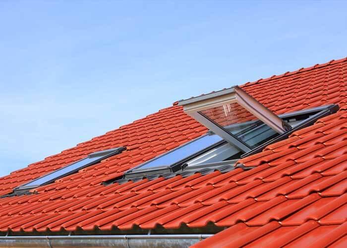 Aluminium roof windows