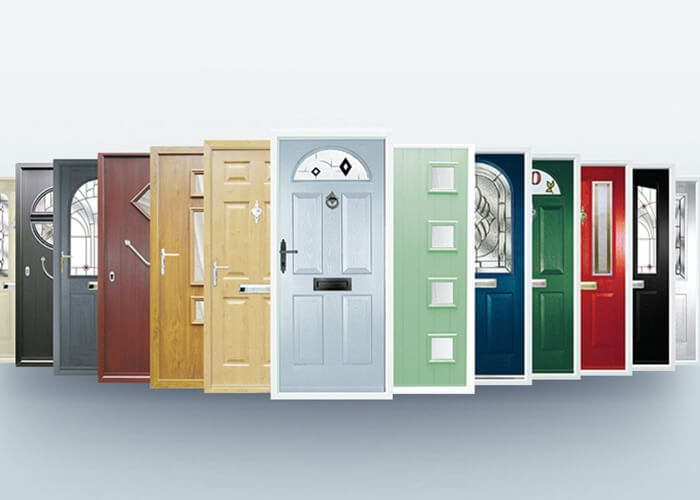 13 contemporary entrance door colours with wooden finish