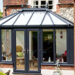 Grey garden room lantern roof