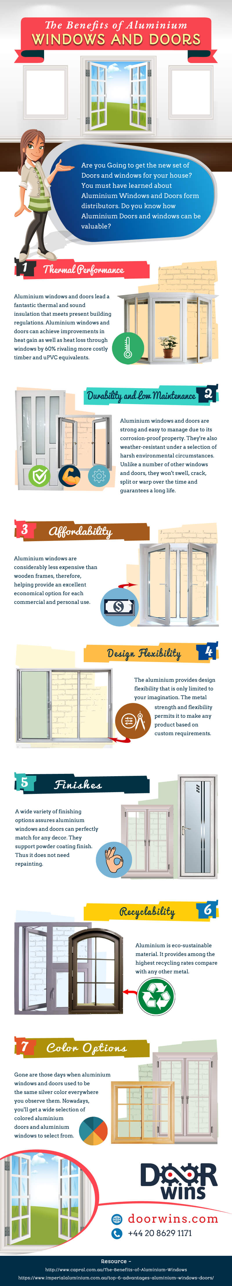 doorwins double glazing benefits and products infographic