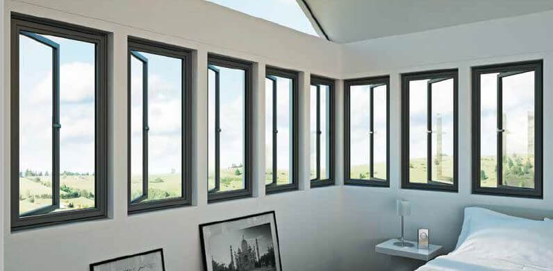 8 aluminium windows recently supplied for a london home