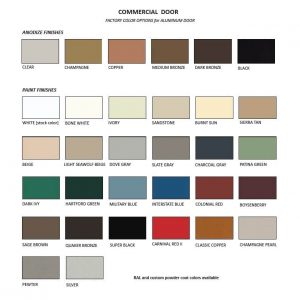 ral colours for commercial doors