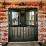 Double swing French front doors