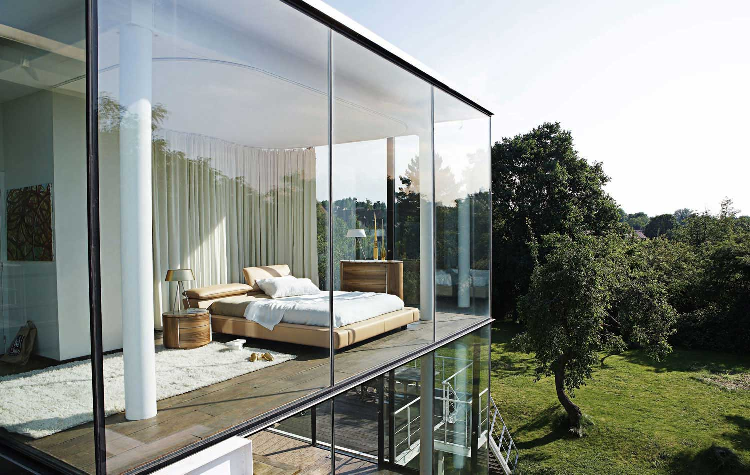 TRIPLE GLAZED MODERN PANORAMIC WINDOWS WITH A BEDROOM VIEW, FULLY GLASS