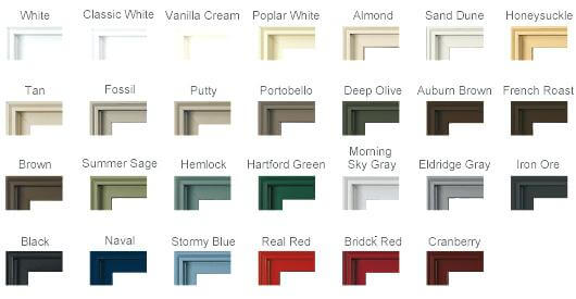 POPULAR COLOURS FOR CASEMENT WINDOWS