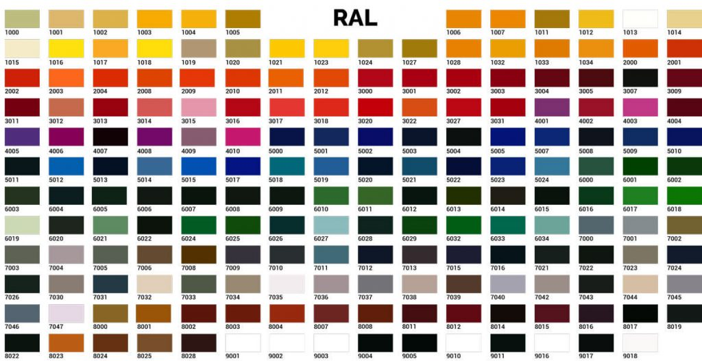 RAL-colours