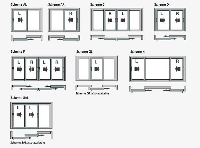 SLIDING OPTIONS FOR OPENINGS ON DOORS