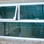 TOP HUNG AWNING WINDOWS WITH LEFT WINDOW OPEN
