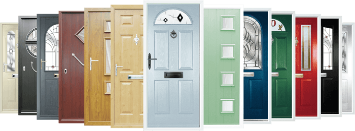 DIFFERENT COLOUR OPTIONS FOR COMPOSITE DOORS
