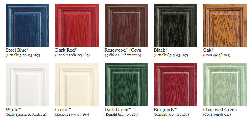 composite door colour chart