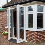 french door in white upvc style