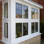 white bay window 3 panel