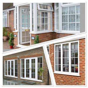 multiple styles of double glazed upvc windows and doors on London homes
