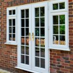 white french patio doors in pvc with tough glass