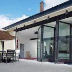 5 panel Black bifold doors 110 Highlever Rd London W10 6PL