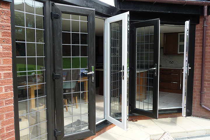 French upvc doors with a rated frame and georgian glass