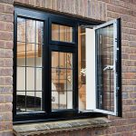 french casement black windows with georgian bar