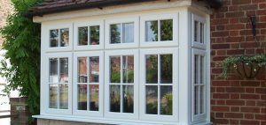 white upvc georgian bar casement bay windows
