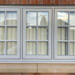 WHITE FLUSH CASEMENT WINDOWS WITH GEORGIAN 3 BARS