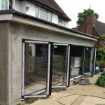 5 panel bifold door newly fitted in east london