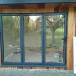 Bifold doors for outhouse gym area