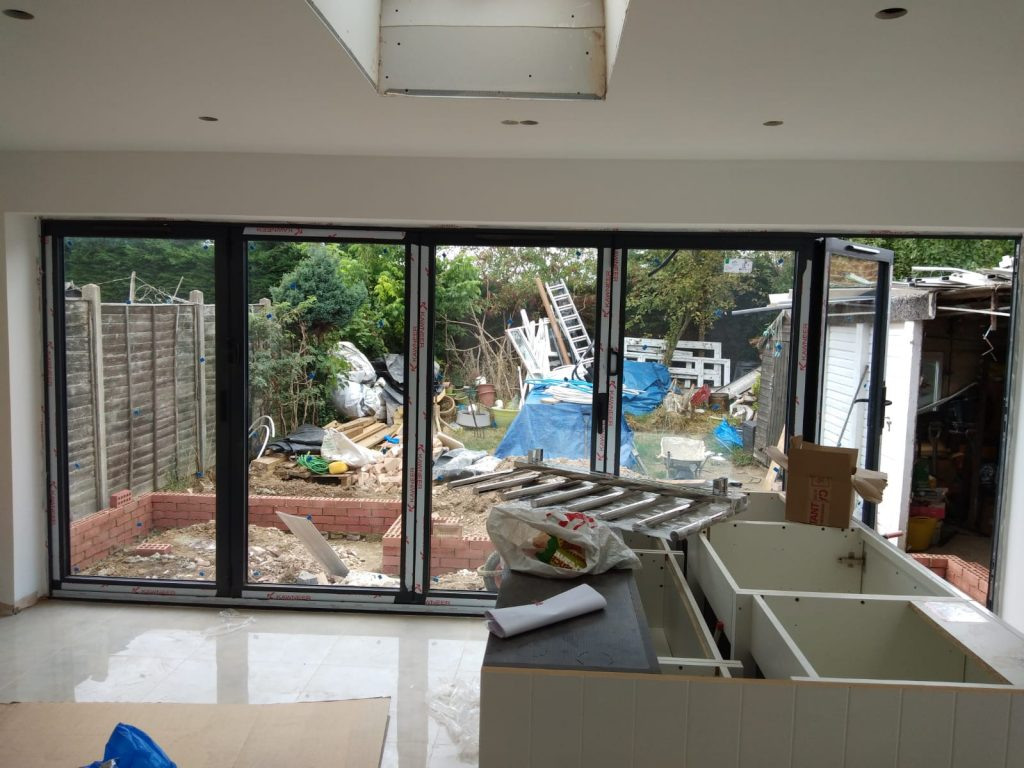 5 pane bifold from the inside