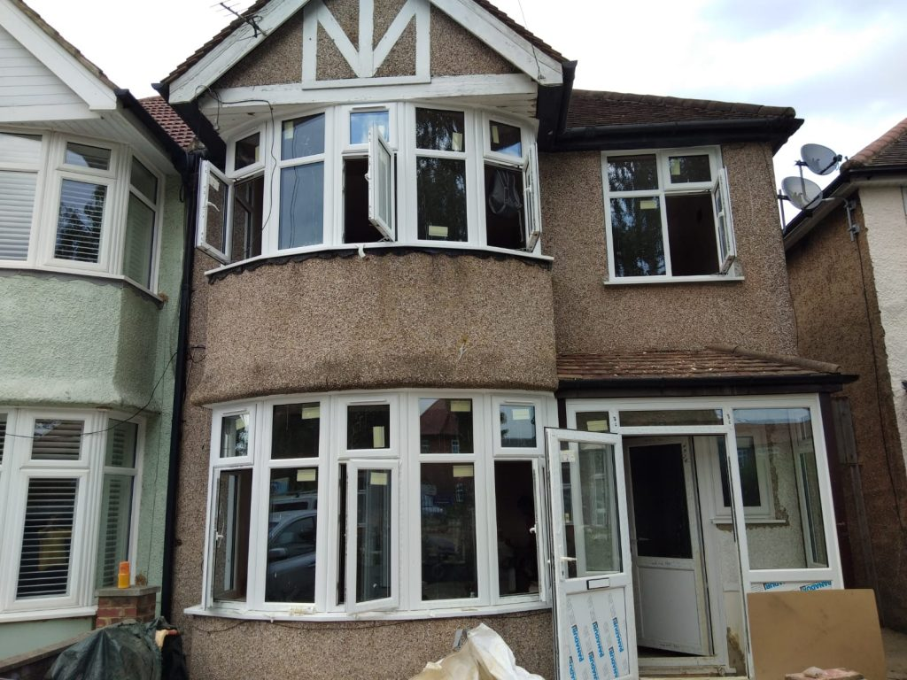 Upvc windows and doors replaced on a home in golders green london