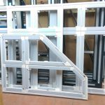 newly manufactured aluminium windows and doors in factory in ealing london