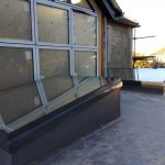 shaped aluminium windows and roof lights on an ealing home