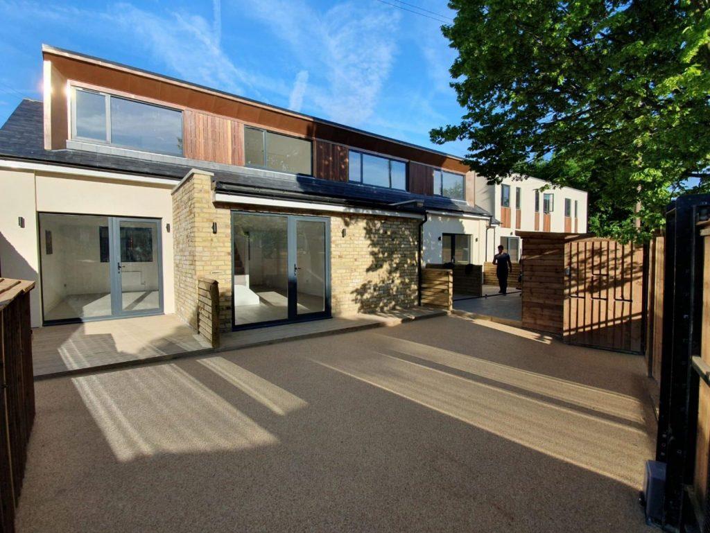 Aluminium sliding doors fitted on apartments near borehamwhood and bushey