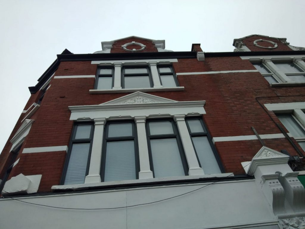 7 aluminium windows and 1 alumin ium door on a townhouse in marylebone london