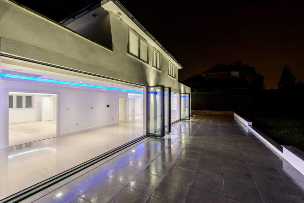 Outside view of newly build extension near slough area