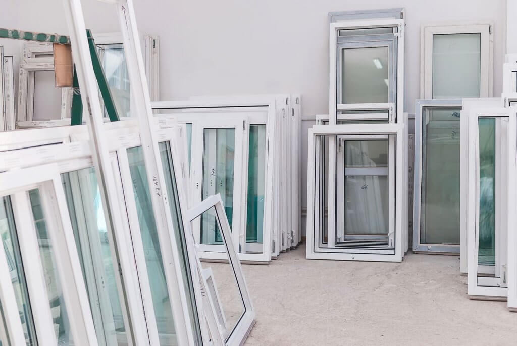 newly manufactured double glazing at doorwins warehouse