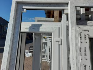 newly manufactured upvc door frames without glass