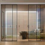 internal glass sliding doors with a thin frame fitted for a bedroom at E1 0BE, poonah street