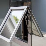 alu hung opening window at central-london premises